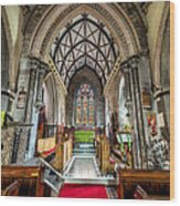 Holy Trinity Wood Print by Adrian Evans