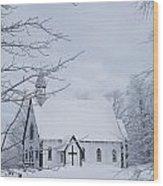 Holy Trinity Anglican Church And Wood Print