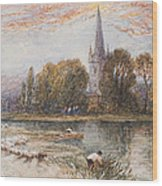 Holy Trinity Church On The Banks If The River Avon Stratford Upon Avon Wood Print