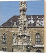 Holy Trinity Statue Budapest Wood Print