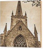 Holy Trinity Stratford On Avon Sepia Wood Print