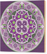 Holy Week Mandala Wood Print by Linda Pope