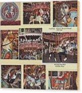 Holyoke Carousel Collage Wood Print