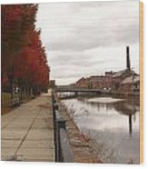 Holyoke Mills And Canal Wood Print
