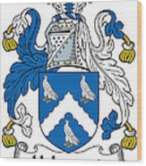 Holywood Coat Of Arms Irish Wood Print