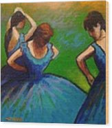 Homage To Degas II Wood Print