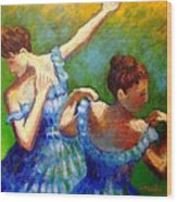 Homage To Degas Wood Print