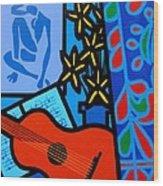 Homage To Matisse I  Wood Print
