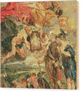 Homage To Rubens Wood Print