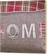 Home Cushion Wood Print