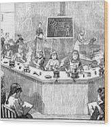 Home Economics Class, 1886 Wood Print