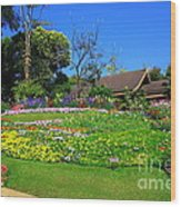Home Gardening Zones Wood Print by Boon Mee