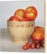 Home Grown Tomatoes II Wood Print