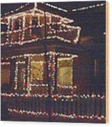 Home Holiday Lights 2011 Wood Print by Feile Case