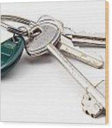 Home Keys Wood Print