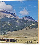 Home On The Range - A Westcliffe Ranch Wood Print