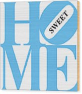 Home Sweet Home 20130713 Blue White Black Wood Print by Wingsdomain Art and Photography