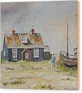 Home Sweet Home Dungeness Wood Print