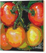 Homegrown Tomatoes Wood Print by Annette Allman