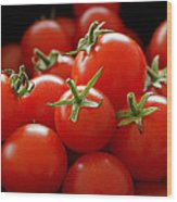 Homegrown Tomatoes Wood Print by Rona Black