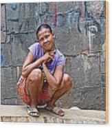 Homeless In Indonesia Wood Print