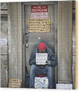 Homeless In The Usa Wood Print
