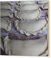 Homemade Lithuanian Dumplings Wood Print