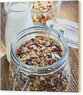 Homemade Toasted Granola Wood Print