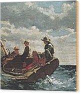 Homer, Winslow 1830-1910. Breezing Up A Wood Print