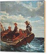 Homer's Breezing Up -- A Fair Wind Wood Print