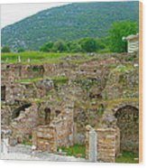 Homes Of The Rich In Central Ephesus-turkey Wood Print