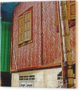 Homes On Stilts In Tachilek-burma Wood Print