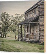 Homestead At Dusk Wood Print by Heather Applegate