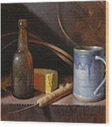 Homestead Beer And Cheese Wood Print by Timothy Jones