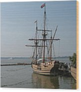 Homesteaders Sailing Ships Wood Print