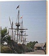 Homesteaders Ships Wood Print