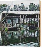 Homesteading On The Delta Wood Print