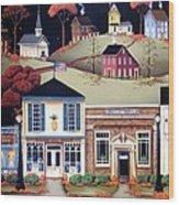 Hometown America Wood Print