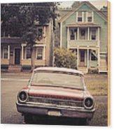Hometown Usa Wood Print