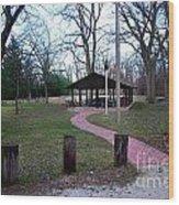 Homewood Izzak Walton Pavilion - Fall Wood Print