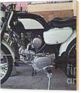 Honda Benley S110 Cafe Racer 1975 Restored Wood Print