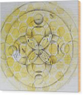 Honey Bee Mandala Wood Print