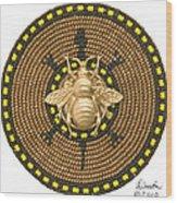 Honey Bee Turtle Wood Print