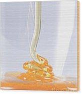 Honey, Coiling Effect Wood Print