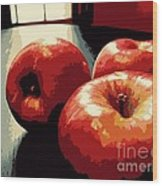 Honey Crisp Apples Wood Print