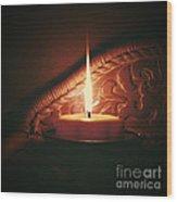 Honey Fire Wood Print