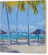 Honey Moon Beach Day Wood Print