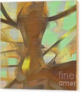 Honey Pastel Abstract Wood Print