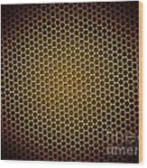 Honeycomb Background Wood Print
