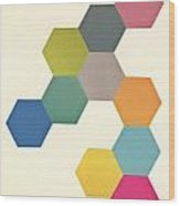 Honeycomb I Wood Print